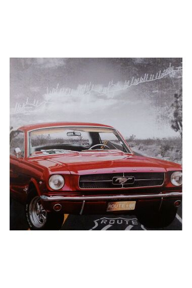 Tavla Canvas Red Mustang