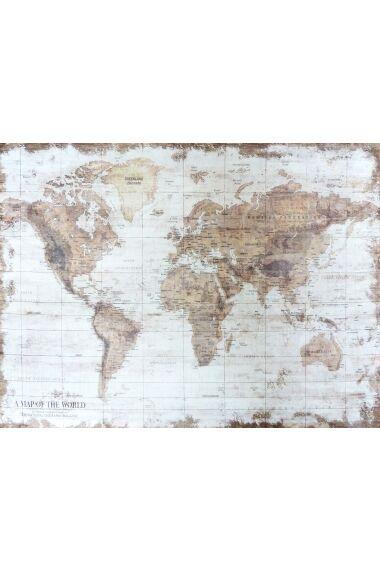 Tavla Printing Canvas World Map