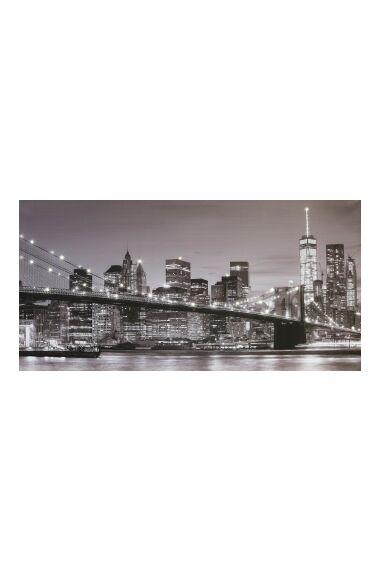 Tavla Printing Canvas New York med LED