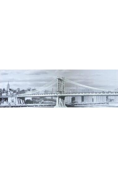 Tavla Printing Canvas Bridge med Glitter