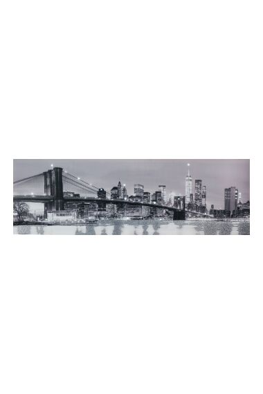Tavla Printing Canvas NY med LED och Glitter
