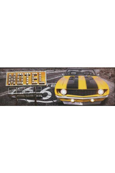 Tavla Printing Canvas Old Car med LED
