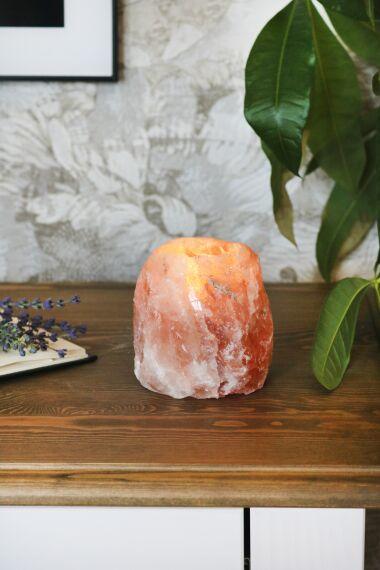 Saltkristall Ljusstake