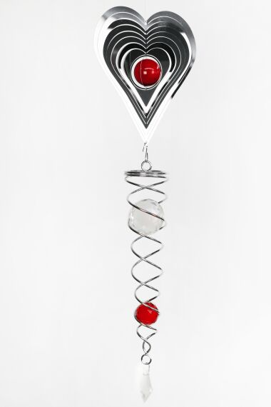Vindspel Cosmo Spinner Heart Red