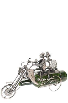 Vinhållare Motorbike Couple