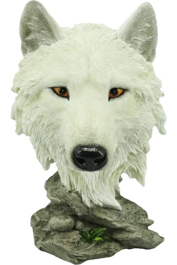 Varg Huvud White Wolf